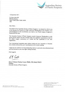 2011.09.Honorary Membership Letter - Jelks, Glenn_AustralianSociety
