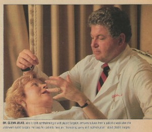 "Featured in The Newsday Magazine ""Plastic Surgery in New York"" issue August 1990 as top eyelid surgeon."